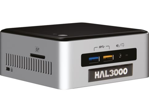 HAL3000 NUC Kit Core W10P / Intel Core i3-6100U / 4GB / SSD 120GB / WiFi / CR / W10 Pre